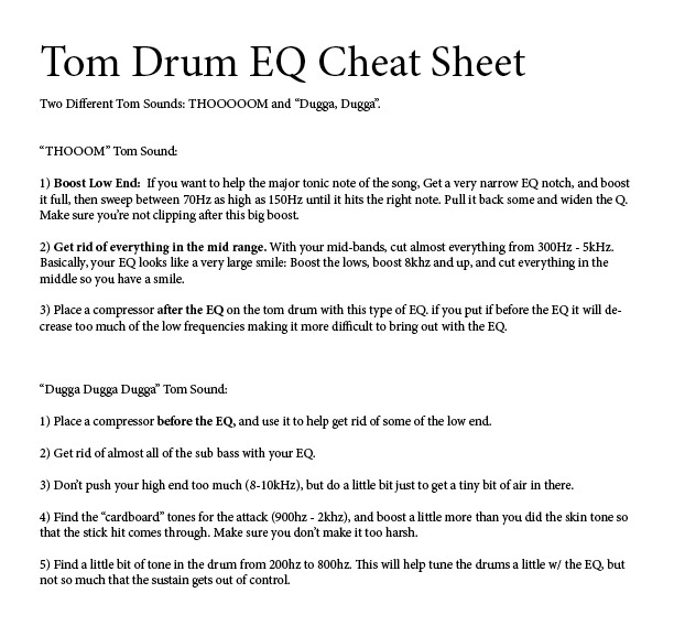 eqing drums tom drum sound mixing mixing tips. Black Bedroom Furniture Sets. Home Design Ideas