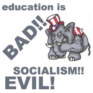 republicans hate education
