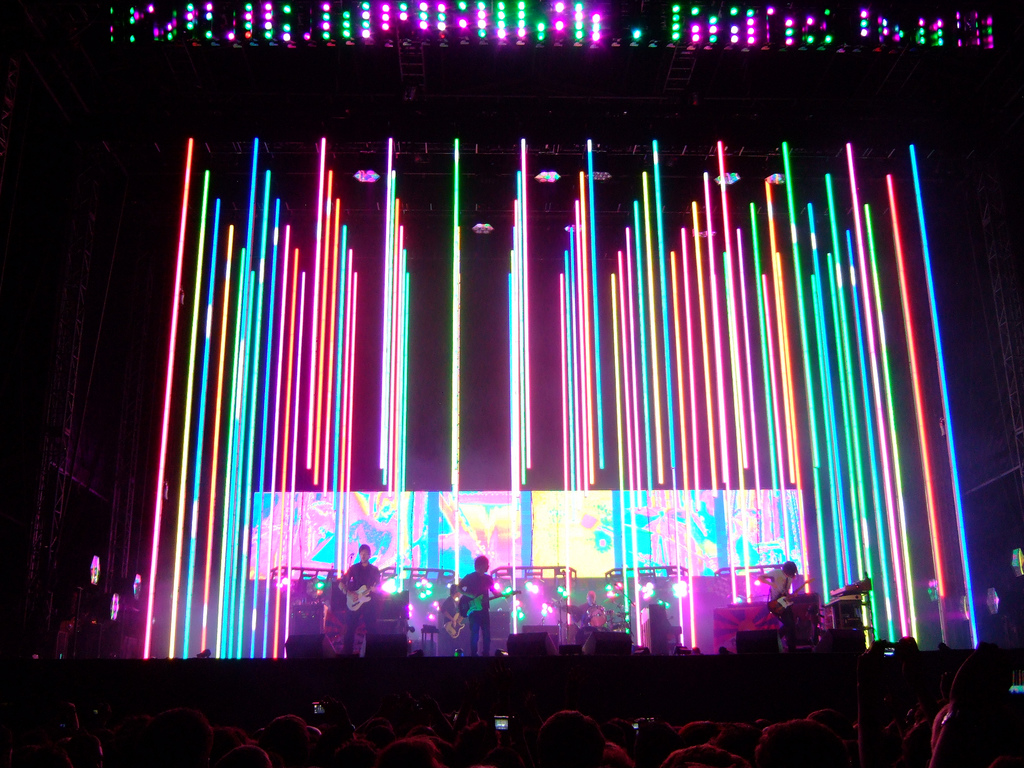 concert stage design ideas radiohead concert stage