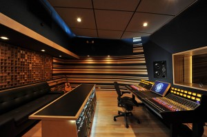 Recording Studio Control Room, side, professional