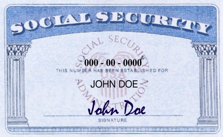 social security card photo