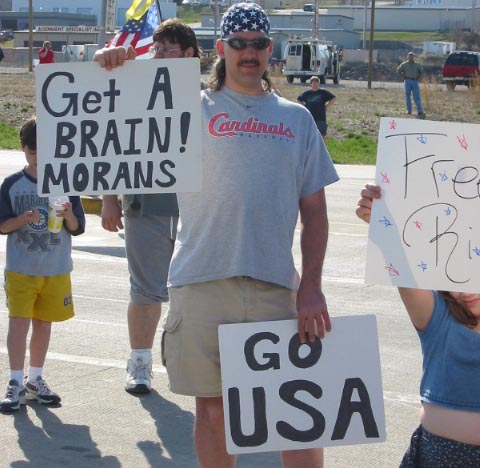 American and Morans. Get brain. Go USA!