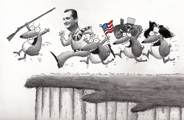 Tea Party Ted Off The Cliff: Shutdown Showdown Hoedown.