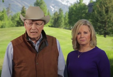 Dick Cheney video with daughter, cowboy hat, outside