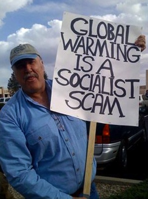 Save The Planet: Blame Obama. Republican Global Warming Denial Politics.