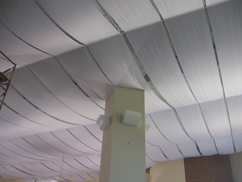 Fabric Curls On Ceiling Politusic