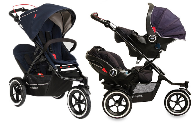Twin Stroller With Car Seat - Seat