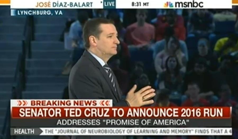 Ted Cruz Running For President, Thinks He's John Lennon