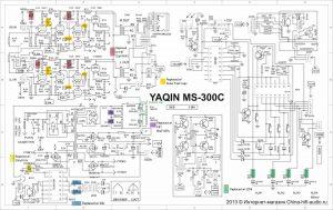 Yaqin MS-300C tube amp schematic, upgrades
