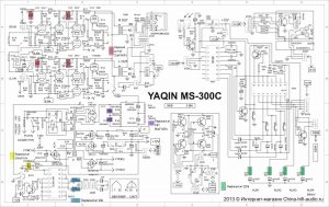MS-300C Schematic with capacitor and resistor modifications
