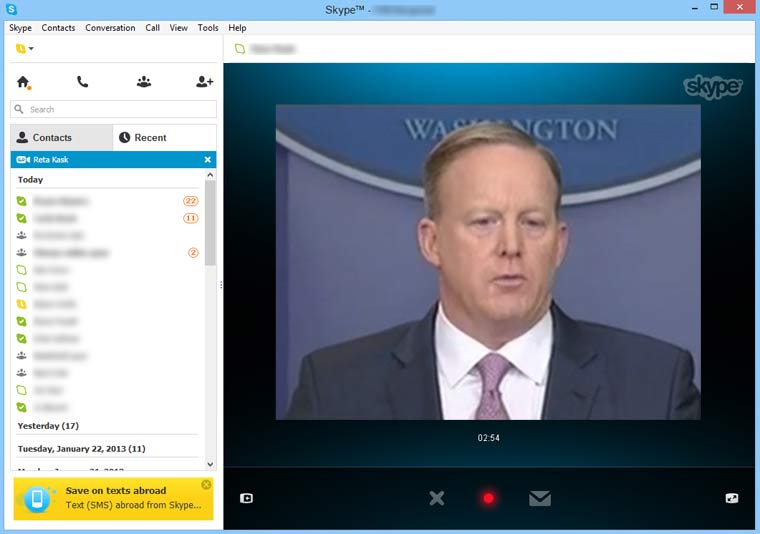"""""""Skype Seats"""" In White House Briefing Room"""