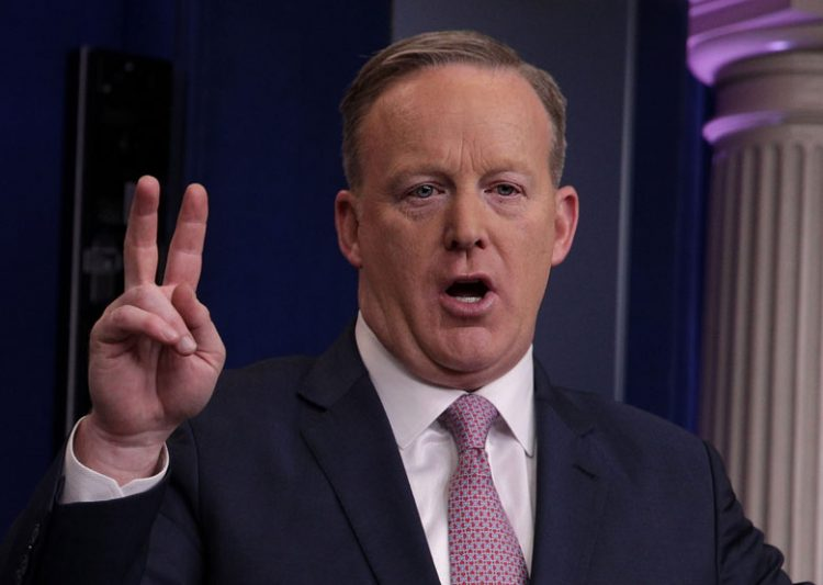 Sean Spicer, White House Briefing Room