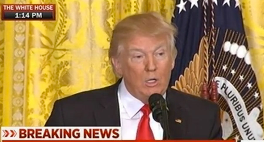 What A Man Losing It Looks Like: Trump's Press Conference