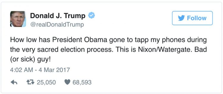 Trump Wiretap Tweets: Obama Is Once Again The Preferred Enemy