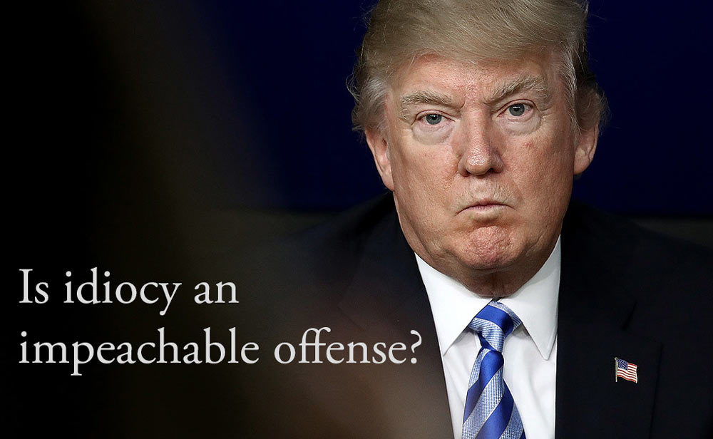 Donald Trump: Is Being An Idiot An Impeachable Offense?