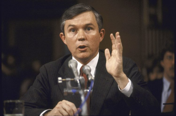 Young Jeff Sessions, testifying